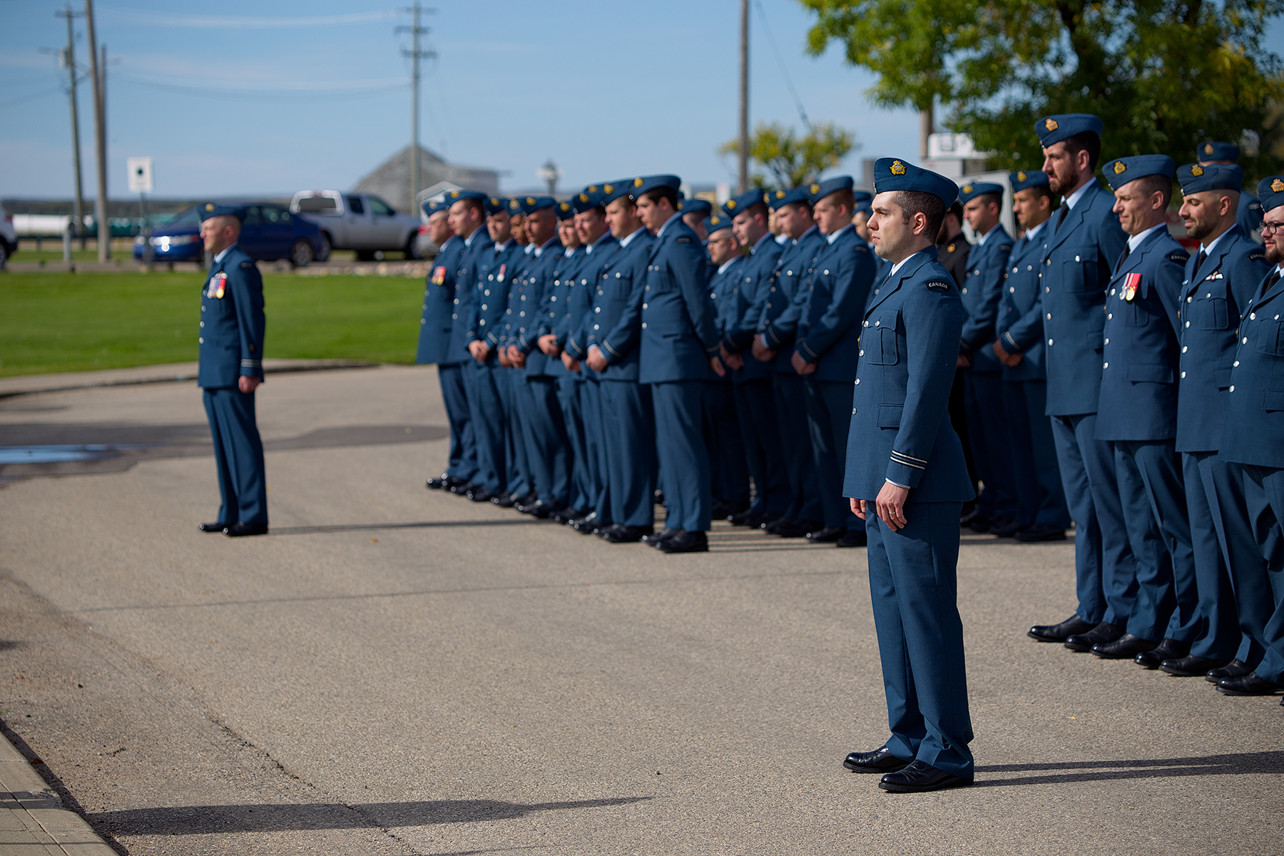 RCAF personnel of 15 Wing Moose Jaw, Saskatchewan, mark the 79th anniversary of the Battle of Britain on September 15, 2019. PHOTO: Submitted