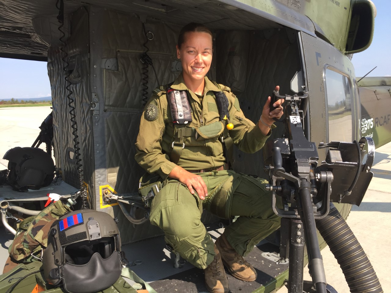 Corporal Alexandra Roy was the first woman to serve with 430 Tactical Helicopter Squadron as door gunner on board CH-146 Griffon helicopters. PHOTO: Courtesy ADSUM newspaper