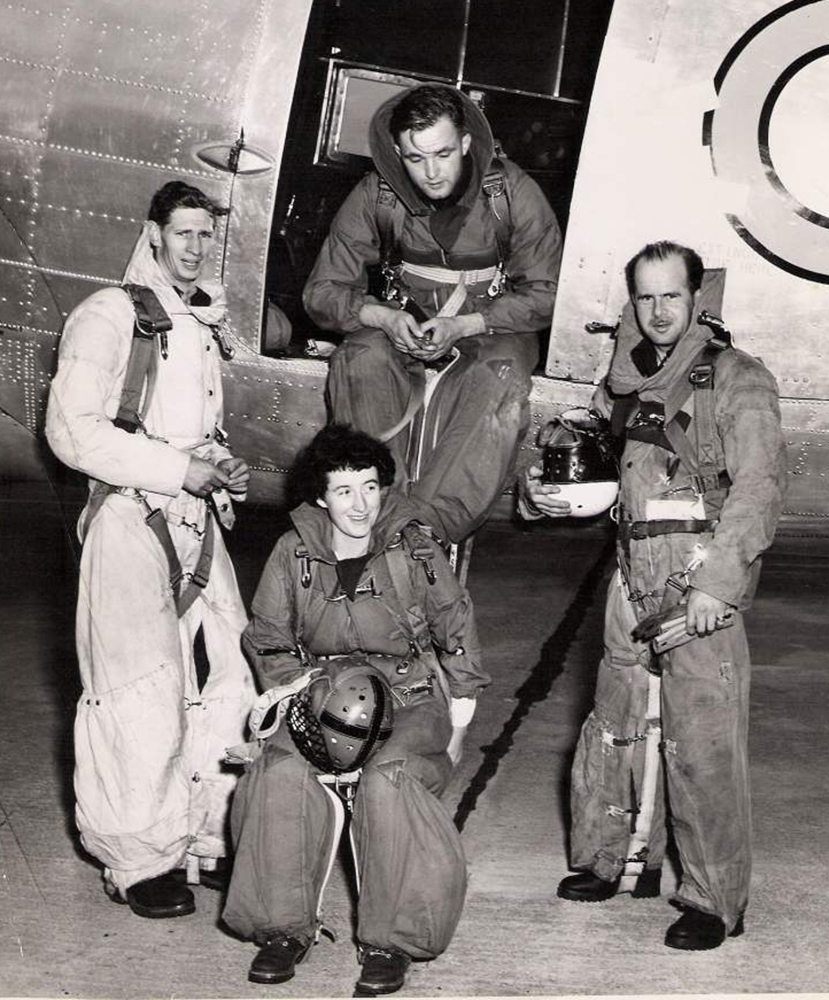 Pilot Officer Grace MacEachern and her para rescue crew at an air show in Abbotsford, British Columbia. PHOTO: MacEachern Family Archives