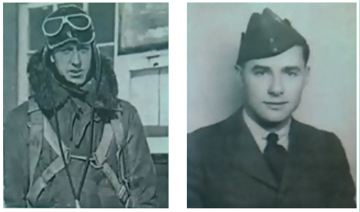 Warrant Officer Class 2 James Edward Doan (left) and Corporal David Alexander Rennie died on September 14, 1939, when their Northrop Delta aircraft crashed in a remote forested area of New Brunswick. The wreckage of their aircraft would not be discovered until 19 years later. PHOTO: Via J.D. Irving, Limited