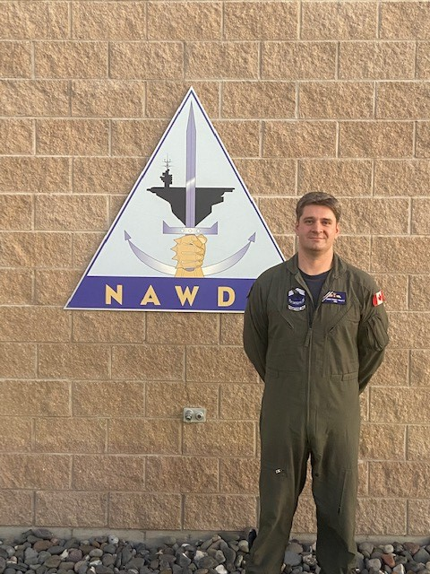 Captain Chris Swartz at the Naval Aviation Warfighting Development Center at Naval Air Station Fallon in Nevada. PHOTO: Courtesy of the Naval Aviation Warfighting Development Center