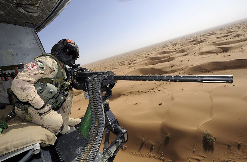 helicopter machine gunner