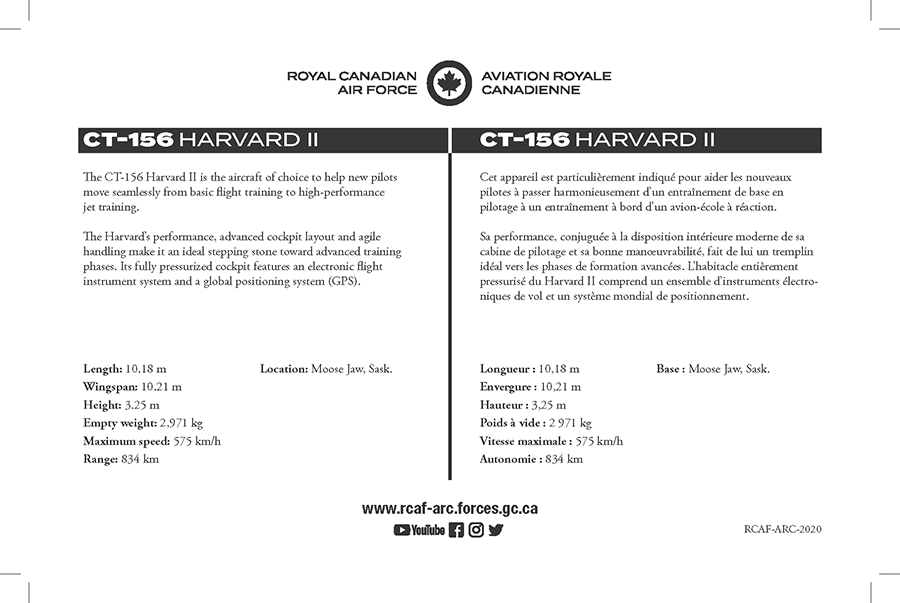 CT-156 Harvard II fact sheet details