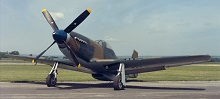 A North American Mustang in Second World War colours.