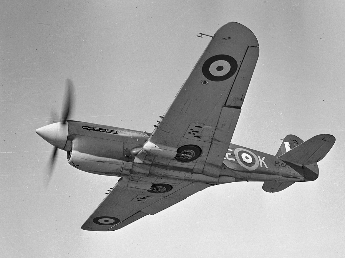 An RCAF Kittyhawk from No. 118 (Fighter) Squadron, located in Dartmouth, Nova Scotia, photographed on April 4, 1942. PHOTO: DND Archives, PL-8345
