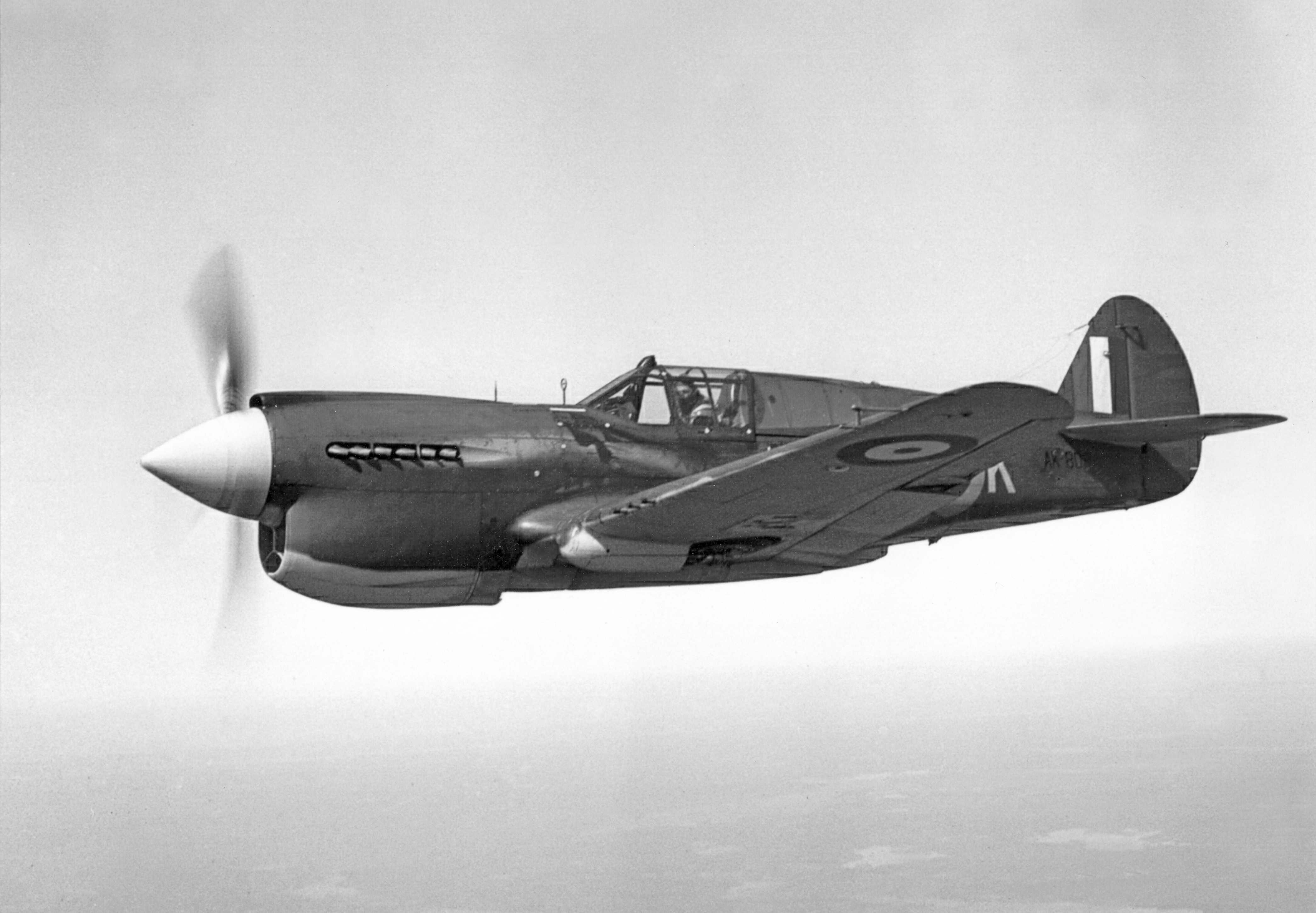 An RCAF Kittyhawk from No. 118 (Fighter) Squadron, located in Dartmouth, Nova Scotia, photographed on April 4, 1942. PHOTO: DND Archives, PL-8346