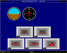 Instrument Comprehension Test:  This is a spatial test designed to assess your ability to visualise using pictorial, numerical and verbal information. You will have to inspect instrument readings to visualise the orientation of an aircraft. The total test time including instructions is approximately 26 minutes and you do not need to prepare for this test.