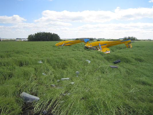 Schweizer 2-33A Gliders C-GFMC and C-FQMH accident site