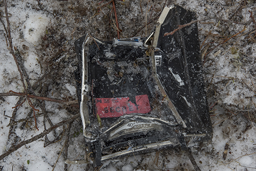 Figure 8: Removable memory module as found in the debris field.
