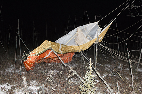 Figure 9: Parachute as found in the debris field.