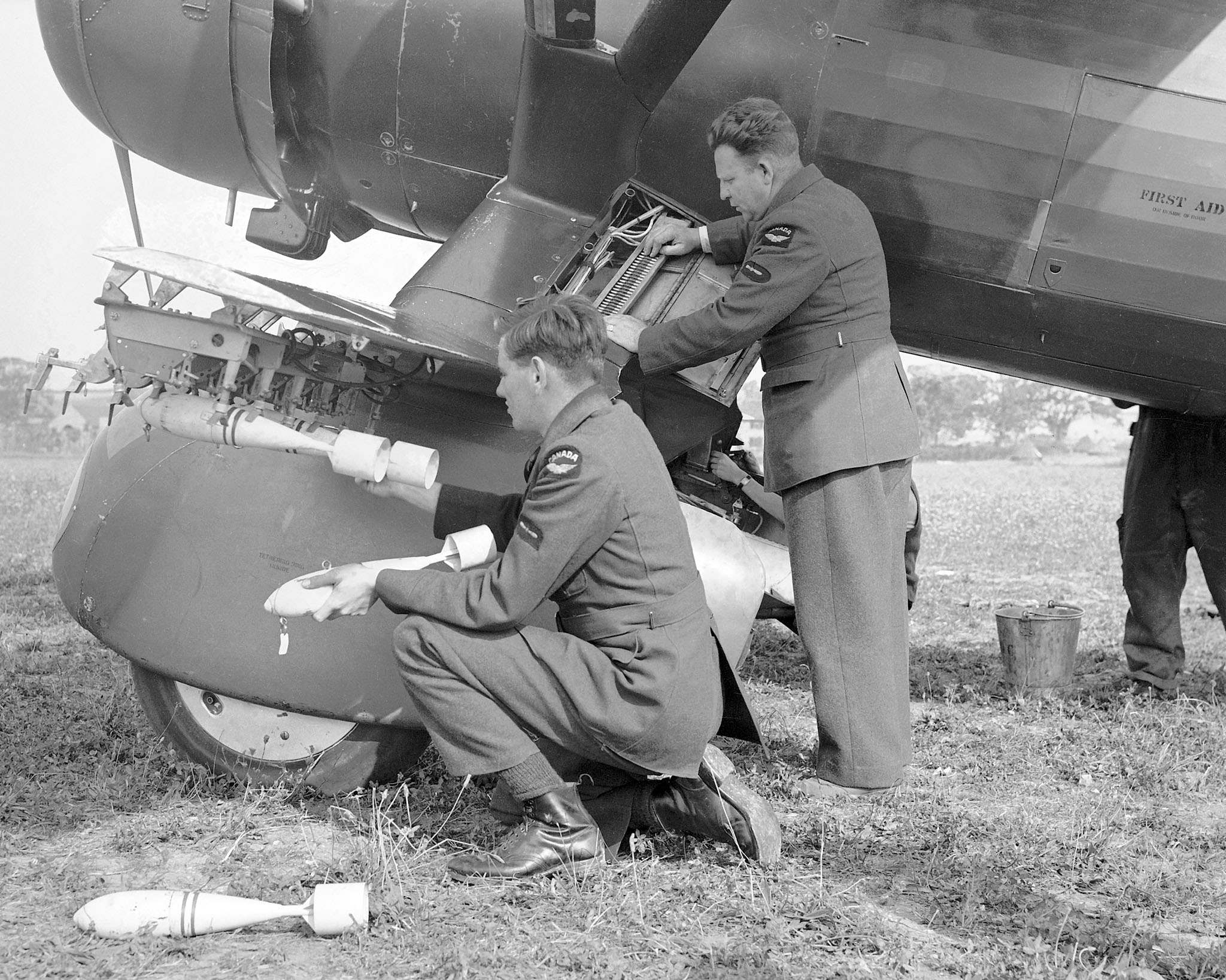 Bombing up Westland Lysander of No. 110 Army Cooperation Squadron on August 15, 1940.
