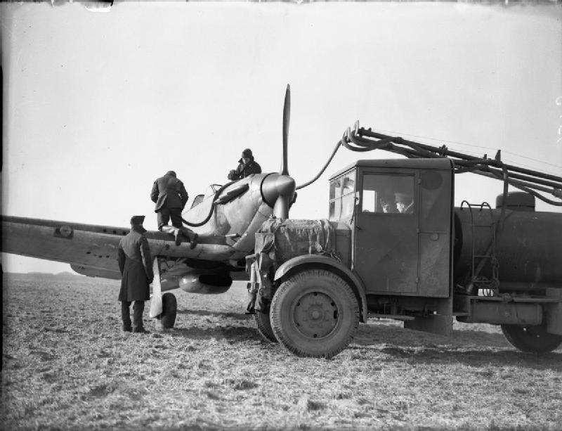A Hawker Hurricane Mark I is refuelled from a tender in 1939-1940. This Hurricane still has its original two-bladed propeller. PHOTO: RAF