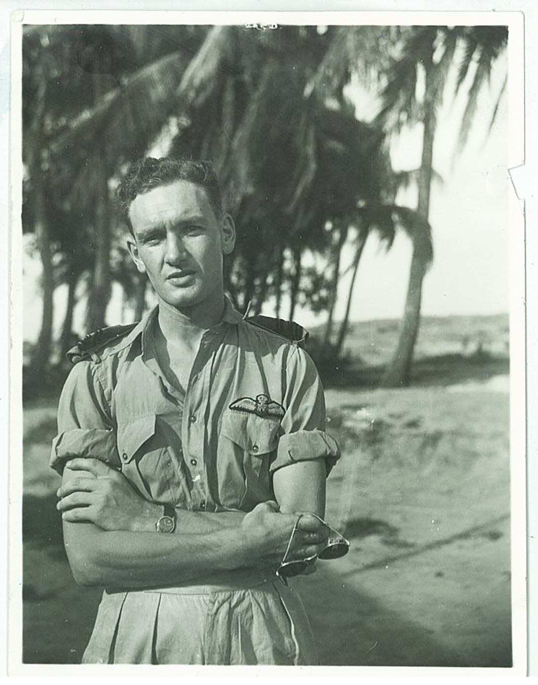 In an undated photograph taken on his tour in India during the Second World War, Flying Officer John Stewart Hart stands in his tropical uniform. PHOTO: Courtesy of John Hart