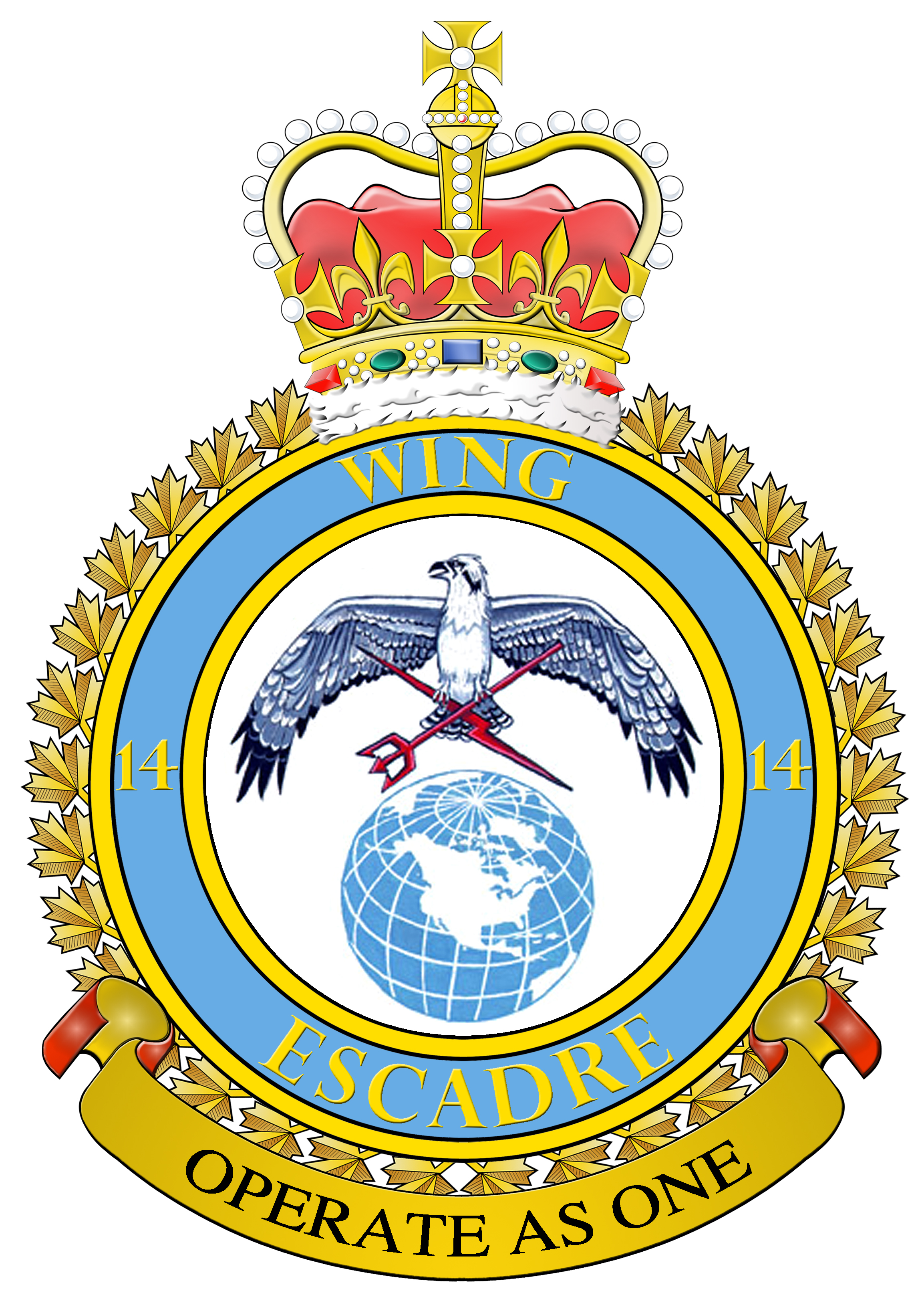14 Wing crest