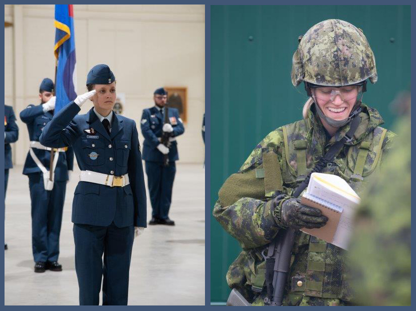 Corporal Sarah Carbonneau was commander of her Primary Leadership Qualification graduation parade in the fall of 2019 at the Royal Canadian Air Force Academy located at 16 Wing Borden, Ontario. PHOTOS: BM05-2019-0339-010 and BM05-2019-0339-002