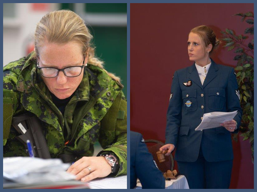 "Master Corporal Danielle Nicolle acted as ""president of the mess committee"" for her Primary Leadership Qualification graduation mess dinner in the fall of 2019 at the Royal Canadian Air Force Academy located at 16 Wing Borden, Ontario. The PMC is responsible for the conduct and decorum of a military mess dinner. PHOTOS: BM05-2019-0339-001 and BM05-2019-0339-005"