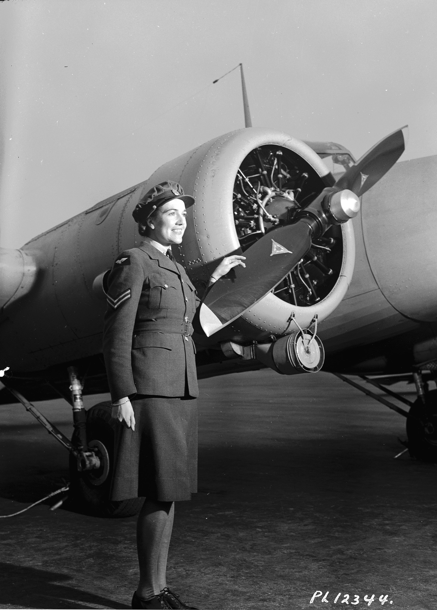 Corporal D.G. Richardson, of the RCAF Women's Division, looks to the future on October 23, 1942, at RCAF No. 7 Service Flying Training School, in MacLeod, Alberta. PHOTO: DND Archives, PL-12344