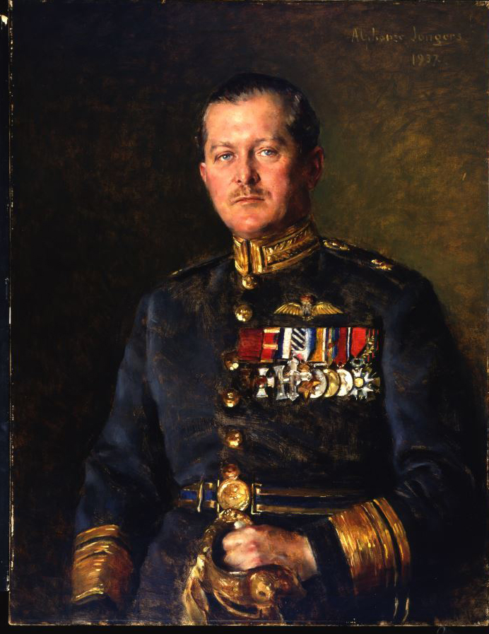 A 1937 painting of Honorary Air Marshal William Avery Bishop, painted by French artist Alphonse Jongers. Air Commodore Bishop's son, Arthur, donated the painting to the Canadian War Museum in 1968. PHOTO: Canadian War Museum