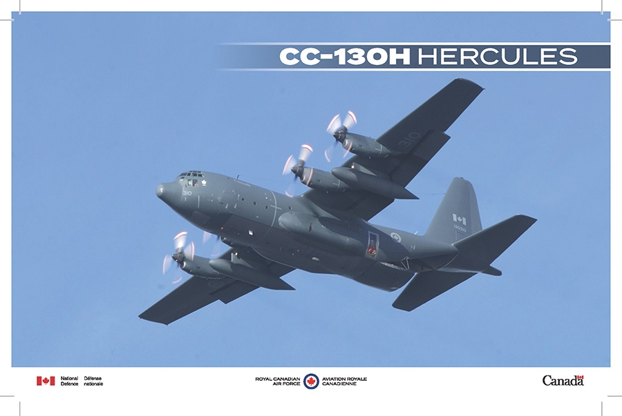 A CC-130H Hercules in flight.