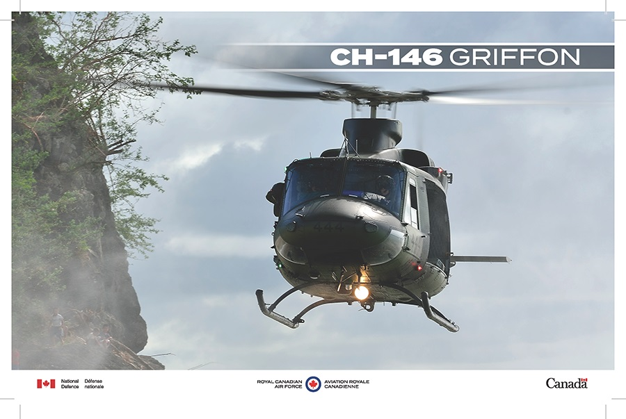 A CH-146 Griffon in flight.