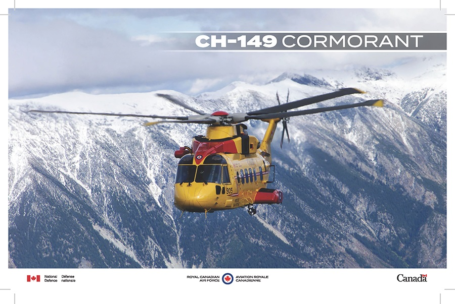 A CH-149 Cormorant in flight.