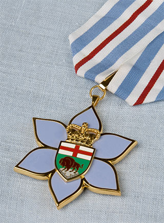 The Order of Manitoba. PHOTO: Office of the Lieutenant Governor of Manitoba Web site