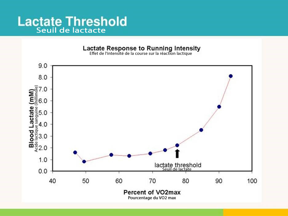 Figure 3. Blood Lactate Response to Running Intensity