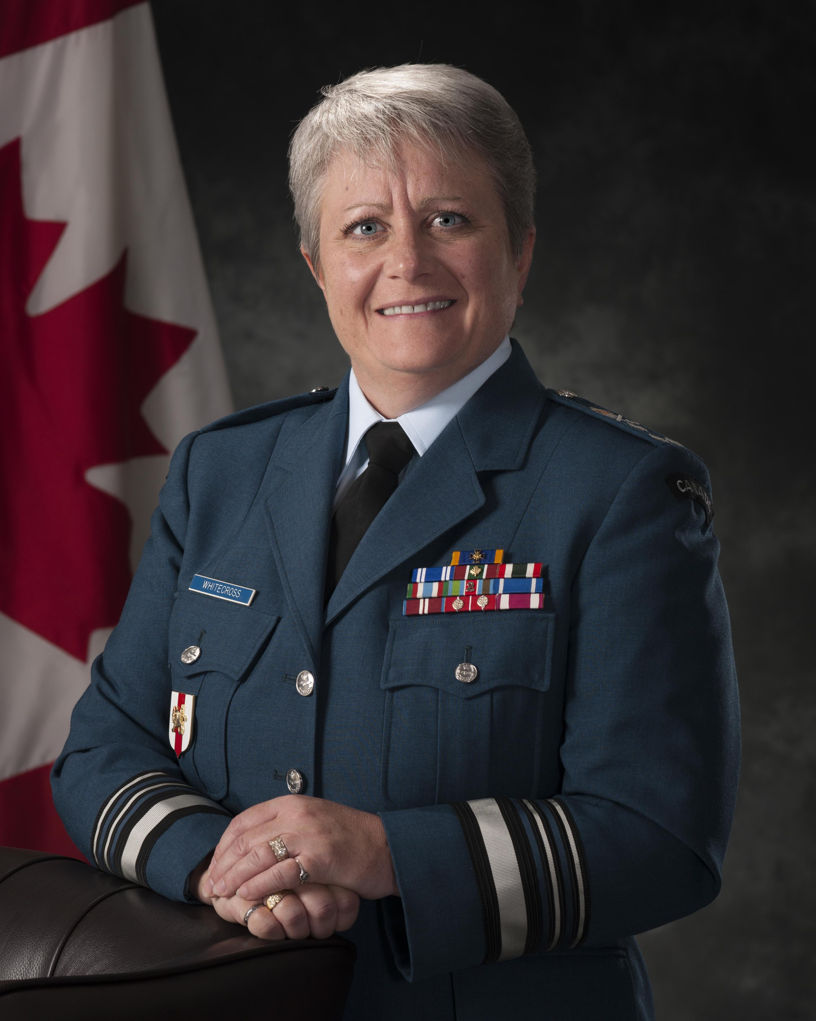Lieutenant-General Christine Whitecross is the first woman to be promoted to that rank in the Canadian Armed Forces. She is currently the commander of Military Personnel Command. PHOTO: DND