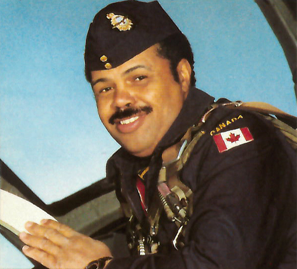 Major Wally Peters was the Royal Canadian Air Force's first Black fighter jet pilot. Among his achievements was becoming a Canadian Armed Forces advisor to the UN on the tactical movement of troops by air and the CAF's first human rights officer. He also flew with the famed Snowbirds aerobatic team in 1981 and 1982. PHOTO: Courtesy the Snowbirds
